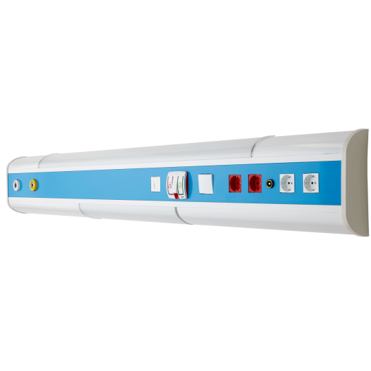 Patient Bed Head Unit with Three Channels and Double Lamps